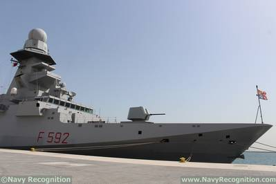 Italian Navy FREMM Frigate Carlo Margottini is at DIMDEX 2018 2